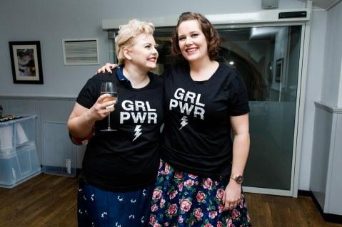 Alle freuten sich über die tollen Happy-Size Tshirts
